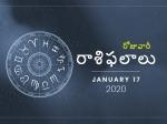 శుక్రవారం మీ రాశిఫలాలు 17-01-2020