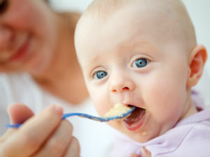 Types of first food to offer baby.
