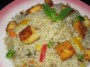 Mutter Paneer Fried Rice