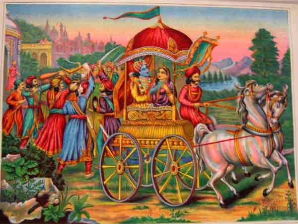 Lord Krishna Kidnapped Princess Rukmini