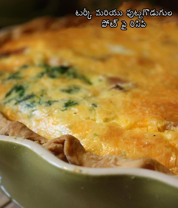 Turkey and mushroom potpie recipe