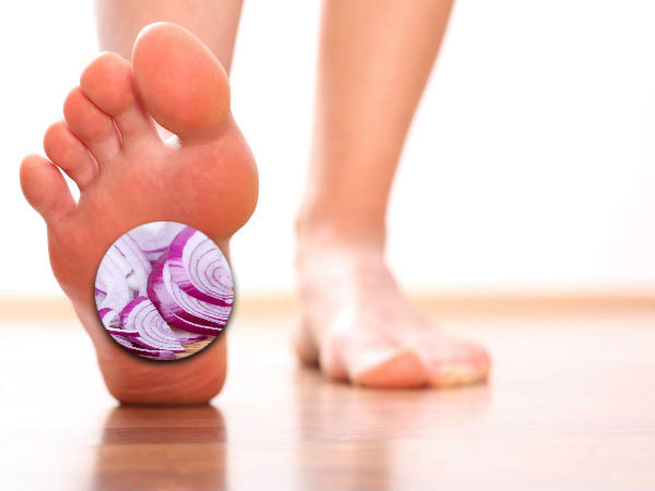 Benefits of using onion on foot