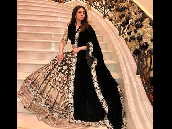 Remembering The Gorgeous Sridevi, Best Looks She Carried In 2017-2018