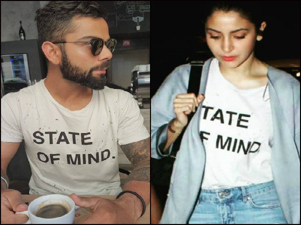 Aww! Mrs. Kohli wears Mr. Hubbys slogan tee