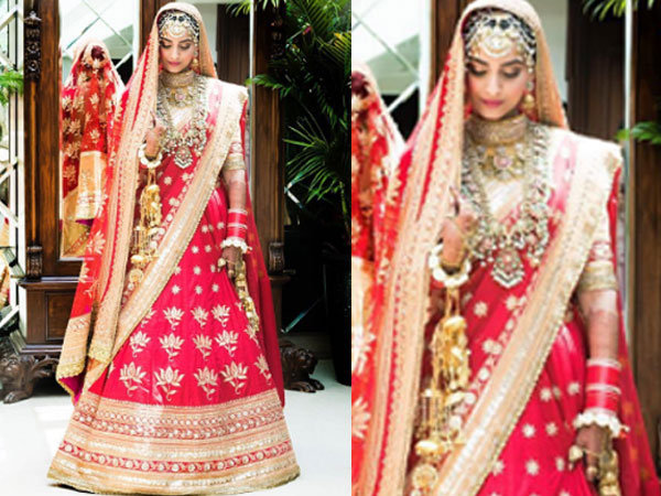 Wow! Sonam Is A Vision To Behold In Her Wedding Attire