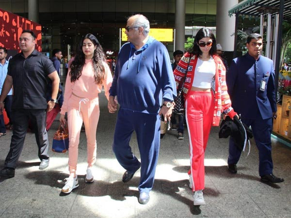 Janhvi And Khushi Kapoor's Airport Style Is Sporty And Relaxed