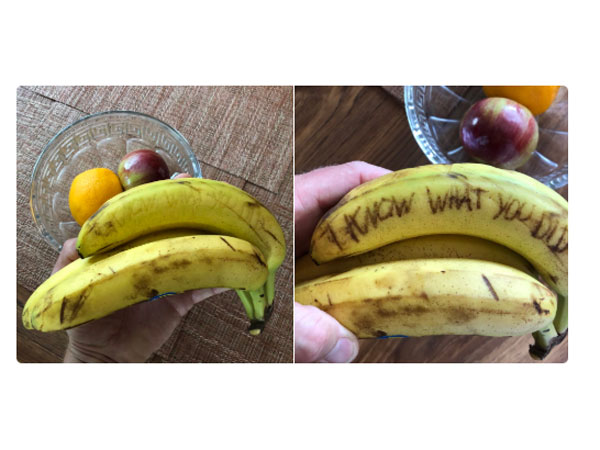 Haunting Messages Scribbled On Bananas Is The Latest Trend!