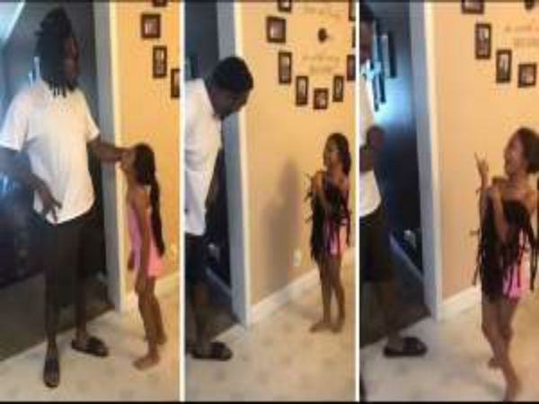Little Girl Sees Dad For The First Time Without His Dreadlocks