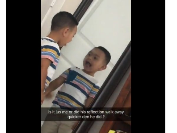 Shocking Video Of A Boy Moving Faster In Reflection