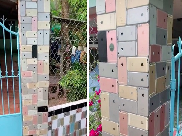 The Ultimate Apple Flex – Hundreds of iPhone 6 Phones Used as Decorative Tiles for House Fence