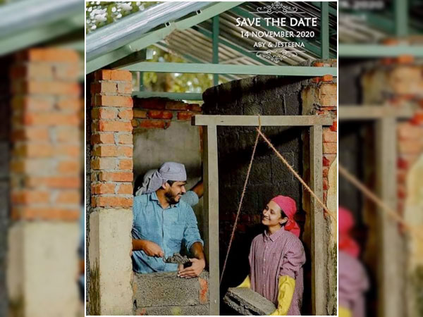 Couple Recreates Scenes From House Construction in Pre-Wedding Photoshoot