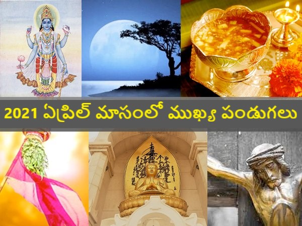 April 2021: Festivals and Vrats in the Month of April in Telugu