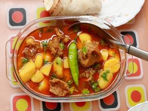 Meet Potato Curry Recipe Christmas Special