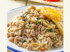 Healthy Tasty Mushroom Egg Fried Rice Recipe