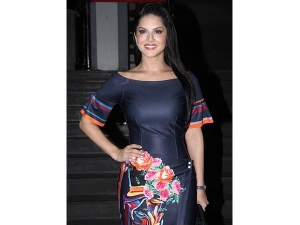 Sunny Leone Has Our Attention Wearing This Hot Blue Dress At