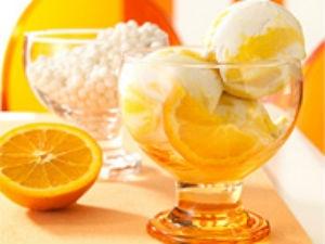 Cool Summer Orange Ice Cream Aid