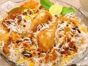 Hyderabadi Chicken 65 Biryani