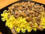 Mushroom Pepper Rice Recipe
