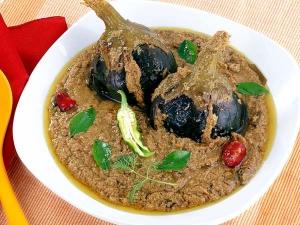 Curd Brinjal Spicy Delicacy