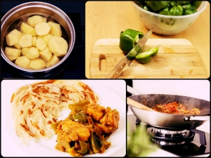 Delicious Aloo Capsicum Curry 6 Easy Steps