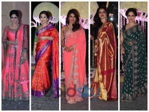 Alluring Angels At Manish Malhotra S Niece S Wedding Reception
