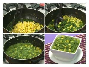 Tasty Malai Makai Palak Recipe