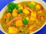 Paneer Aloo Matar Recipe Tasty Spicy