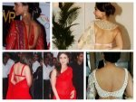 Hot Backless Saree Cholis On Bollywood Celebrities