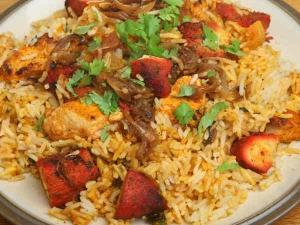 Red Chilli Chicken Fried Rice Recipe