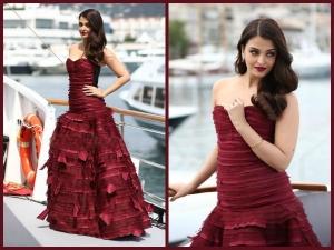 Cannes 2015 Aishwarya Rai S Berry Look At At Jazbaa First