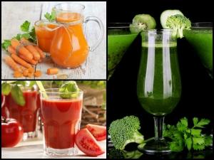 Vegetable Juices Drink A Glowing Skin