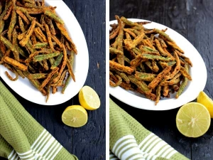 Snack Recipe Spicy Bhindi Fry
