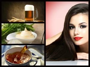 Natural Homemade Remedies Get Shiny Hair