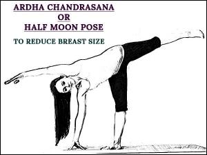 Ardha Chandrasana Half Moon Pose To Reduce Breast Siz