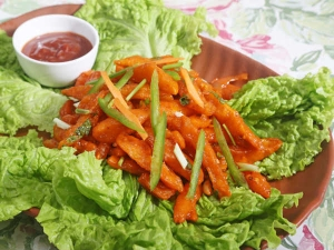 Crispy Potato Fries Manchurian Style