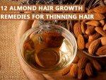 Almond Hair Growth Remedies Thinning Hair