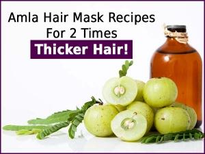 Amla Hair Mask Recipes 2 Times Thicker Hair