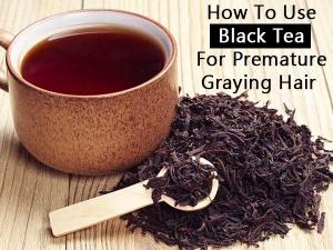 How Use Black Tea Premature Graying Hair