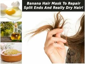 Banana Hair Mask Repair Split Ends Really Dry Hair
