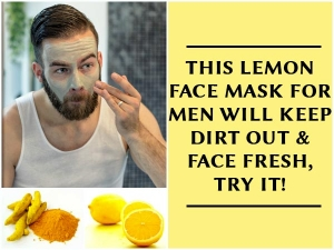 This Lemon Face Mask Men Will Keep Dirt Off Face Fresh Tr