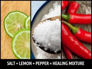 Healing Power Salt Lemon Pepper