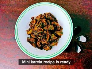 Mini Karela Recipe Stir Fry Bitter Gourd Recipe Hagalkay