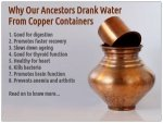 Why Drink Water From Copper Containers