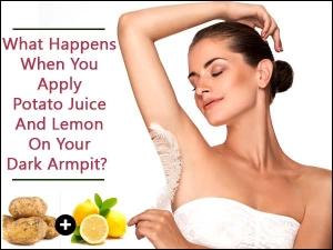 What Happens When You Apply Potato Juice Lemon On Your Dar