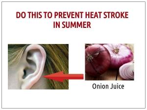 Do This Prevent Heat Stroke Summer