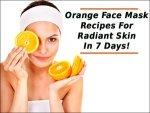 Diy Orange Facial Mask Keep The Skin Hydrated