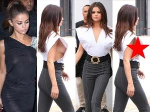 Selena Gomez Suffers Wardrobe Malfunction Edgy Flank Baring
