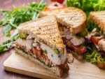 Grilled Omelet Sandwich With Fresh Mint Chutney