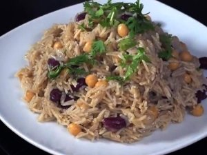 Middle Eastern Rice With Black Beans Chickpeas