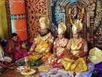 A Pious Affair At This Wedding The Bride Groom Their Parents Came Dressed As Gods